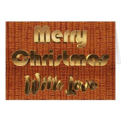 Merry Christmas Rustic Picnic Basket Wicker Photo Card - christmas cards merry xmas family party holidays cyo diy greeting card