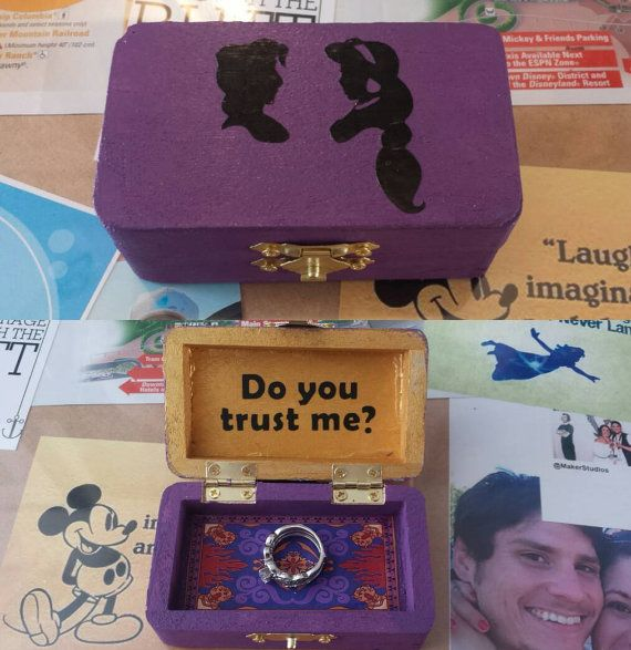 Aladdin Inspired Ring Engagement Box by MindyCreates on Etsy