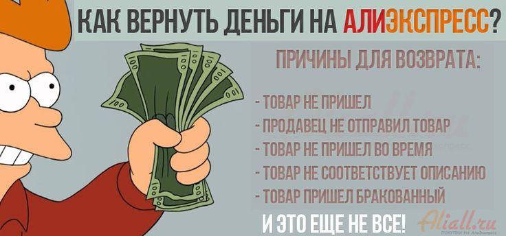 Как вернуть деньги на Алиэкспресс? - http://aliall.ru/pomoshh-novichkam/kak-vernut-dengi-na-aliyekspress/