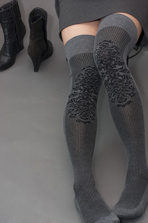 Pinstripe Heraldry Over the Knee Socks - finally splurged and got them!