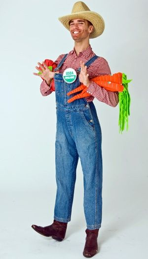 ... Halloween with a #DIY organic farmer costume! #Savers #ValueVillage