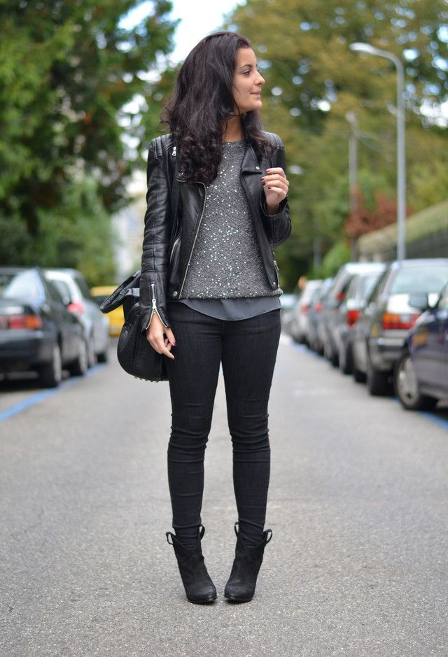 77 best Leather jacket outfits images on Pinterest | Leather ...