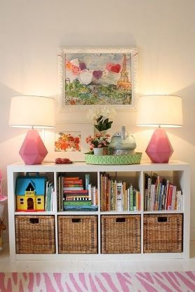 GENIUS IDEA: Ikea Expedit Shelves With Baskets For Storage    Could Work  ANYWHERE In The House!   Book And Toy Storage In Living Room? Part 97
