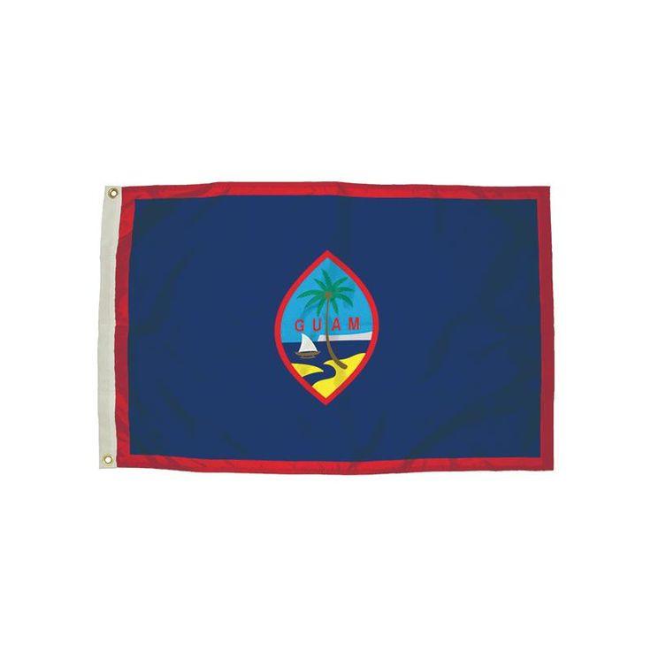 3X5 NYLON GUAM FLAG HEADING &