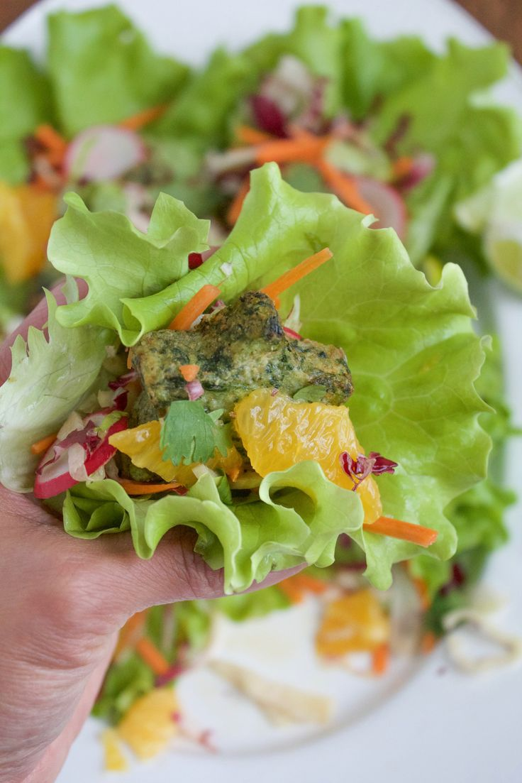 Gluten Free Kale And Potato Lettuce Cups made