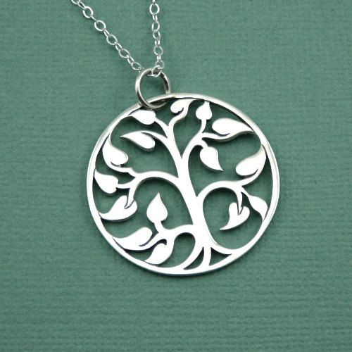Large Tree of Life Necklace - sterling silver necklace - tree necklace - tree…