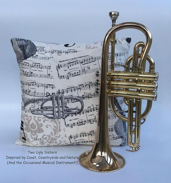 Musician Gifts Music Print Cushion Music Teacher Gift Musical