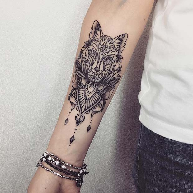 43 Badass Tattoo Ideas For Women With Images Wolf Tattoos For