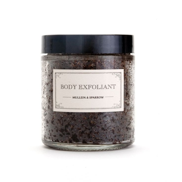 Body Exfoliant. Slough off dead, dry skin with this exfoliating scrub. Our rich and fragrant blend combines the earthy, sweet tones of coffee Arabica with the invigorating qualities of mint essential oil. This exfoliant will polish away dull surface layers and reveal the soft, glowing skin underneath.
