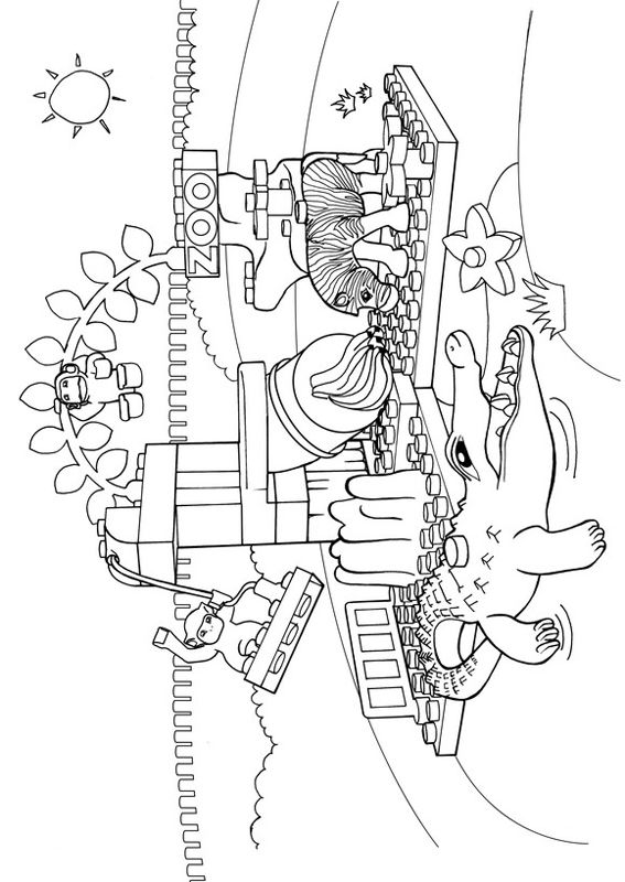 Lego Duplo Coloring Zoo Colouring Pages For Kids Lego Duplo Coloring Pages