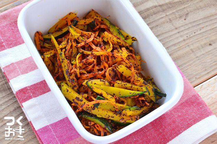季節を問わず手に入る野菜で彩りもキレイなので、お弁当に使えて便利です。