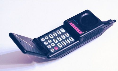 My first mobile phone  in the late  80's :D