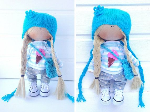 Fabric doll Tilda doll Interior doll Art doll por AnnKirillartPlace