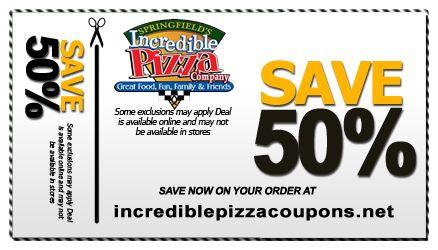 John Incredible Pizza Printable Coupons