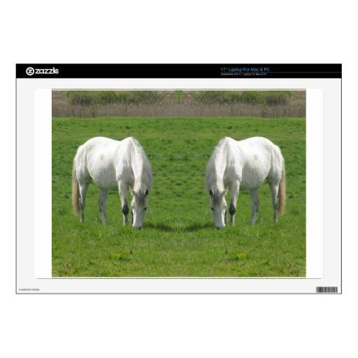 """Horse mirror 17"""" laptop decals"""