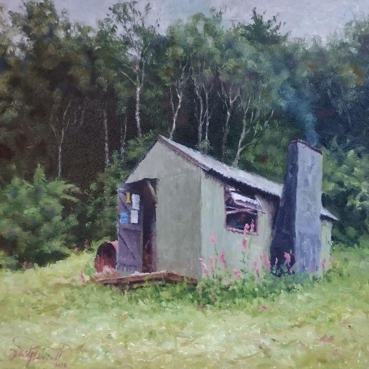 Waihua Hut, by Felicity Deverell. Te Urewera Ranges, New Zealand