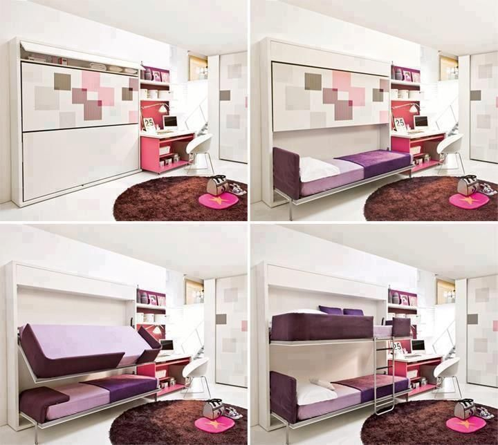 Fold Away Bed Ideas: Fold Away Bunk Beds! Awesome!