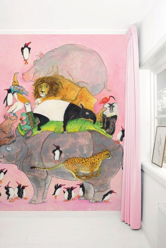 Geillustreerd fotobehang voor de kinderkamer en babykamer - Wallpaper Stories van KEK Amsterdam.