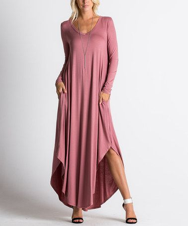 This Dustry Rose Handkerchief Maxi Dress is perfect! #zulilyfinds
