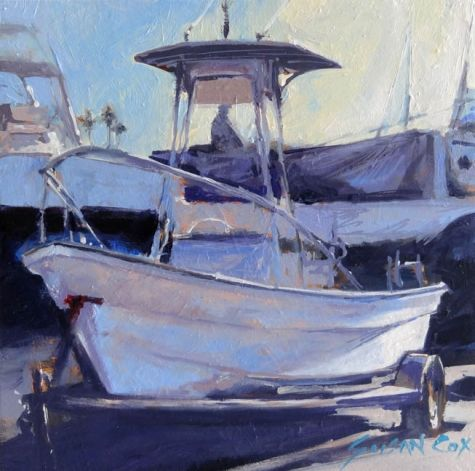 Boat Sketch, painting by artist Susan Cox