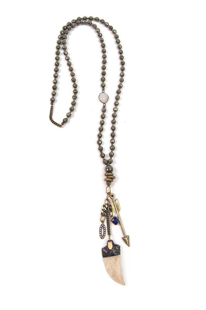 Pyrite Brass Charms Lapis Charm Handmade Horn Pendant Gunmetal CZ charm Oxidized Silver bezelled Moonstone