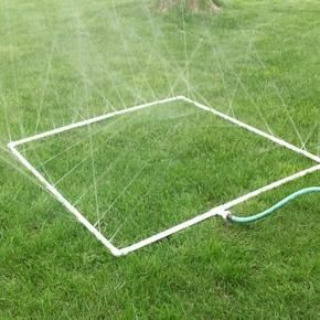 How to Build a PVC Sprinkler ....the site says for your garden, but I think this is perfect for some wild kids to run through on a hot day!