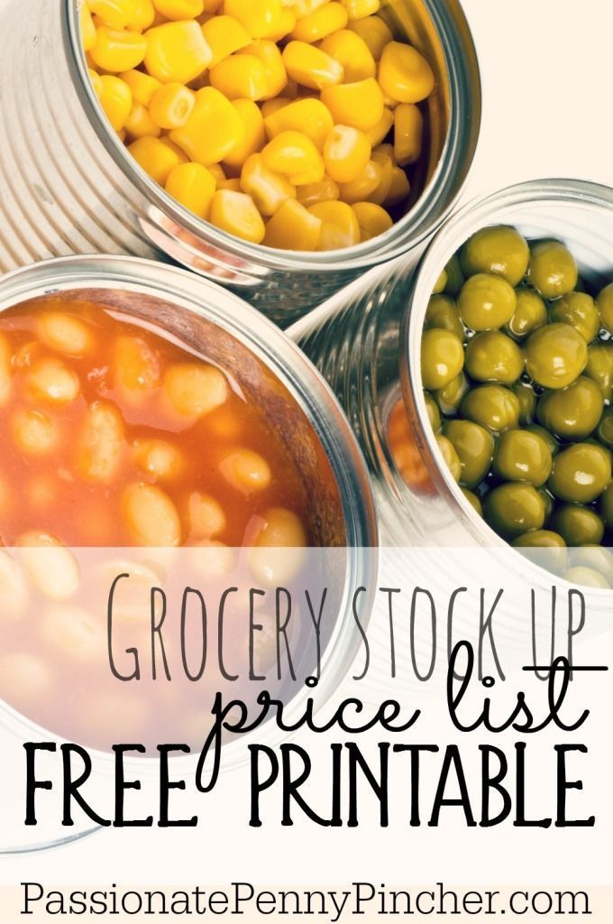 Free printable grocery stock up price list ~ helps you know if you're paying too much for groceries!
