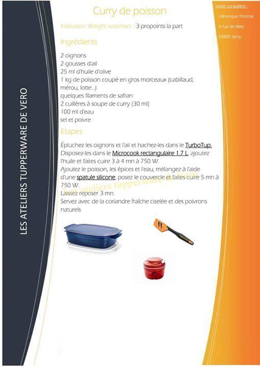 Curry de poisson - Tupperware