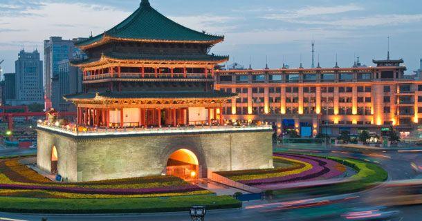 Avec Institut Chine Education et votre #CPF, partez en #séjour linguistique en Chine !  Sur cette photo, la Tour de la Cloche, l'un des #monuments que vous pourrez apercevoir à Xi'an, l'une des villes dans lesquelles nous organisons des séjours linguistiques !