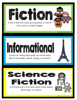 BOOK GENRE LABELS - TeachersPayTeachers.com
