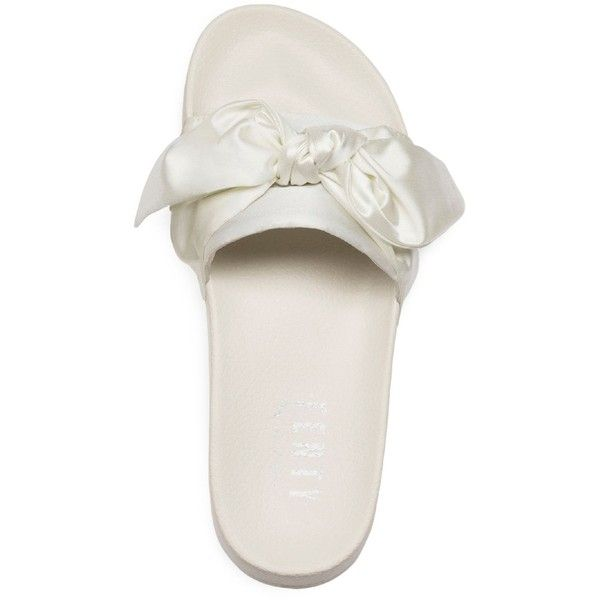 Fenty Puma x Rihanna Women's Satin Bandana Pool Slide Sandals (695 GTQ) ❤ liked on Polyvore featuring shoes, sandals, satin shoes, satin sandals, slide sandals, puma shoes and puma footwear