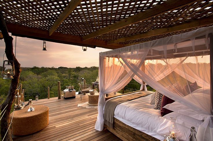 Lion Sands Game Reserve - South Africa, featuring breath-taking tree house lodging.