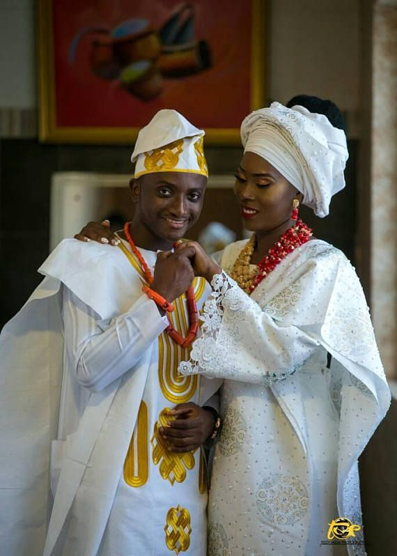 Traditional Nigerian Wedding Dress for Bride and Groom