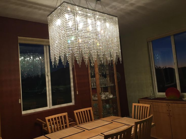480 10 Light Modern Contemporary Dining Room Chandelier Rectangular Chandeliers Lighting Dressed With High Quality