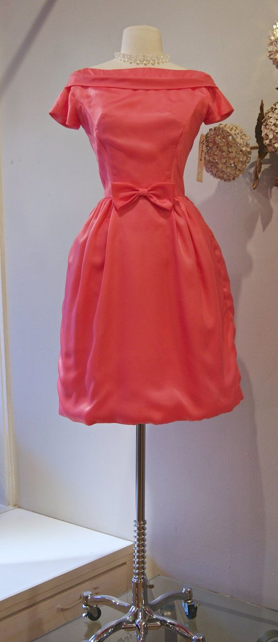 60s Dress // Vintage 1960's Bubblegum Pink Party by xtabayvintage, $148.00