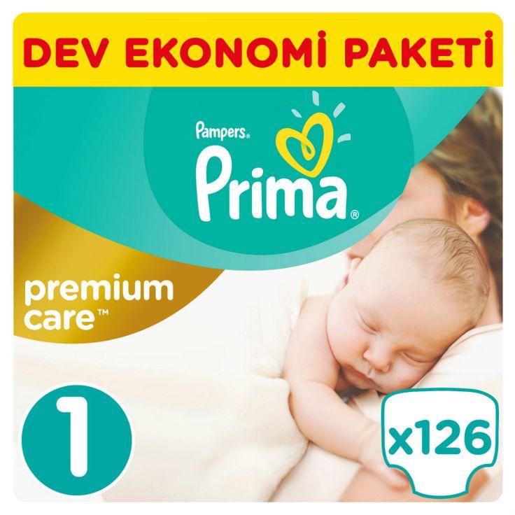 Prima Premium Care Bebek Bezi 1 Beden Yenidoğan Dev Ekonomi Paketi 126 Adet