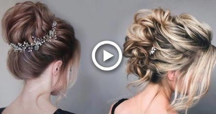 Beautiful Prom & Wedding Hairstyles For Short/Medium Hair | cute hair tutorial 2…