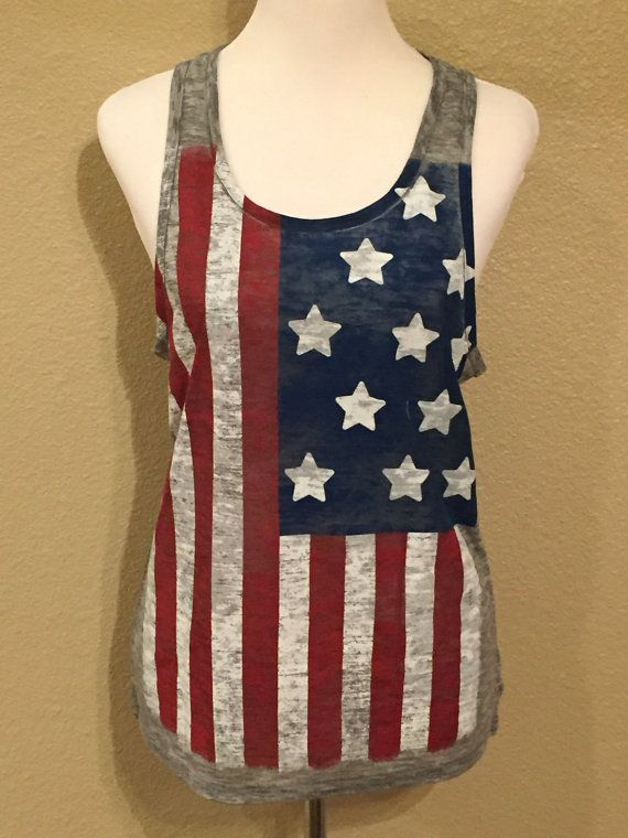 Hey, I found this really awesome Etsy listing at https://www.etsy.com/listing/231991741/american-flag-tank-top-patriotic-top-4th