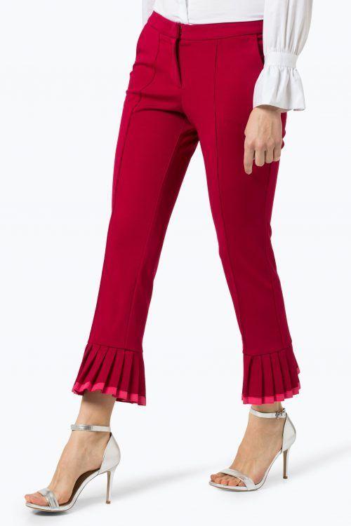 Bringebær kick flare bukse med plissevolanger Cambio - 6234 0205/01 florentina 27