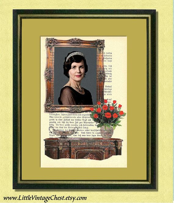 DOWNTON ABBEY  Lady Grantham  Dictionary art by littlevintagechest, $8.99