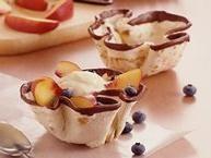Blueberry-Nectarine Dessert Tortillas
