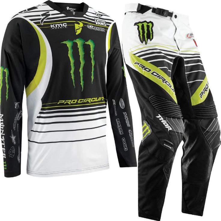 Thor Core Pro Circuit Monster Energy Motocross Gear Thor Pro Circuit Monster Energy Motocross Gear The Thor Pro Circuit Monster Energy Team Replica