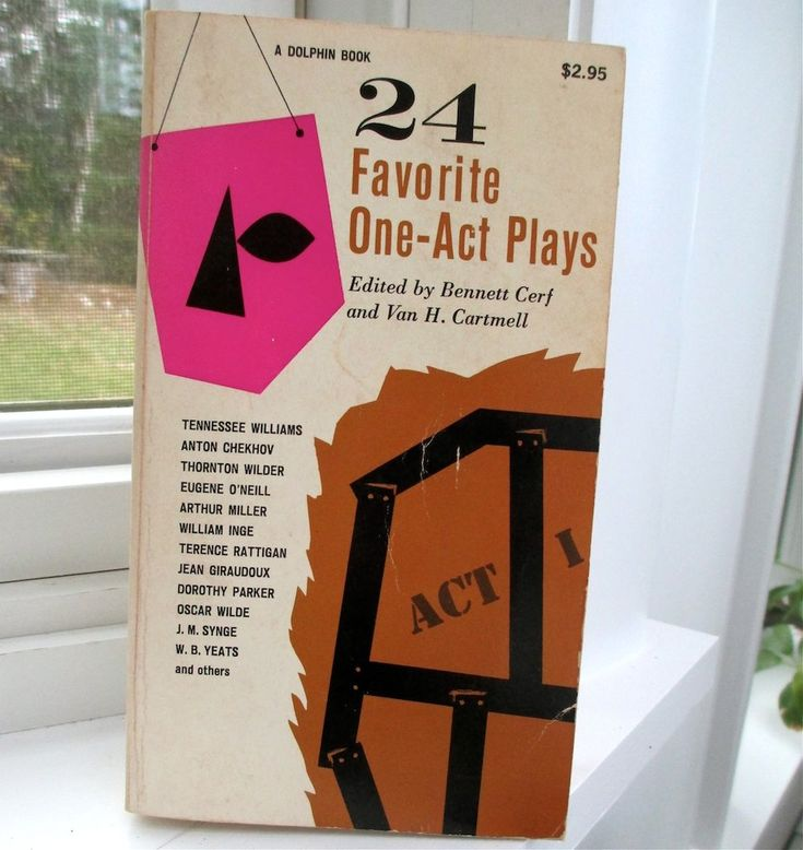 https://prosperolane.com/collections/world-theater/products/24-favorite-one-act-plays-1963-edited-bennett-cerf-and-van-h-cartmell24 Favorite One-Act Plays, 1963 Edited Bennett Cerf and Van H. Cartmell