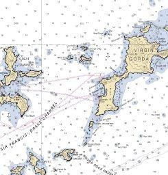 Nautical Map Of British Virgin Islands