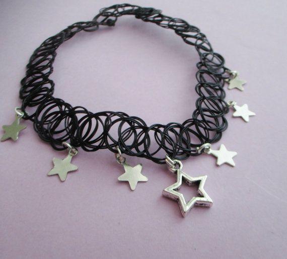 pastel goth star choker ☪ www.etsy.com/shop/OfStarsAndWine