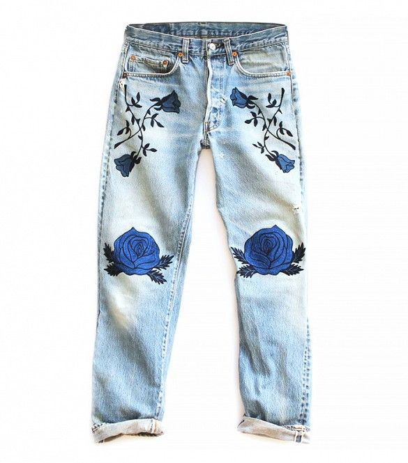 25  best ideas about Painted jeans on Pinterest | Painted clothes ...