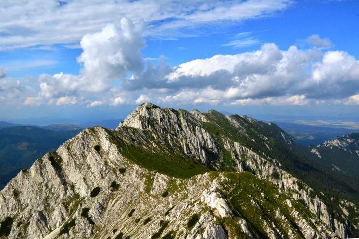 Piatra Craiului ridge, near Brasov (Romania) Carpathians Mountains.