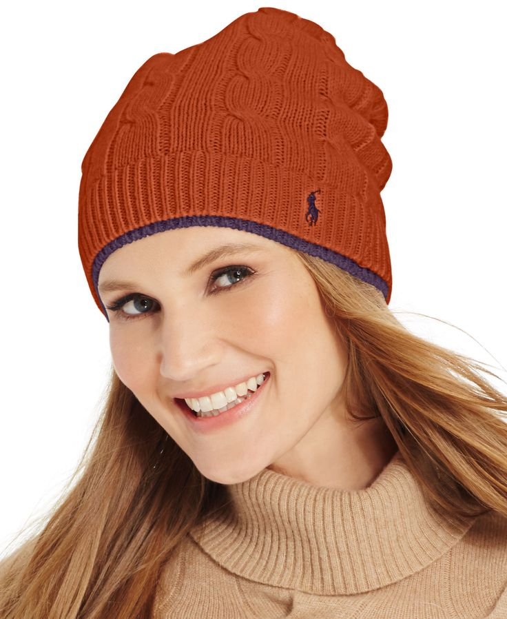... polo ralph lauren two tone cable slouch hat. wool hatsknit 3794d86e5
