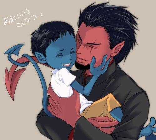 Azazel and Nightcrawler | Azazel + Raven + Kurt ... X Babies Nightcrawler