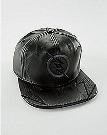 Faux Leather Professor Zoom Snapback Hat - DC Comics